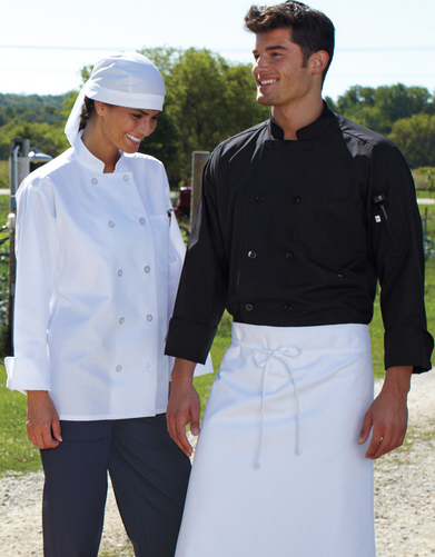413 10 Pearl Button Chef Coat